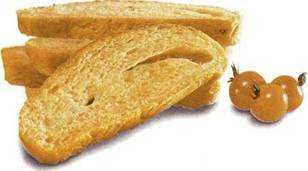 Хлеб с тремя видами сыра и вялеными помидорами