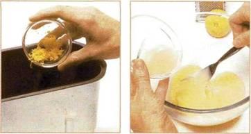 Кекс с лимоном и имбирем