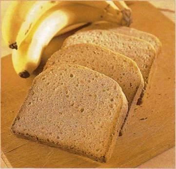Хлеб с бананами и маслом арахиса